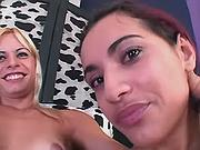 Tranny gets oral pleasure from girl