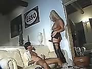 Hot ts slut serves client