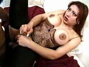 Sexy TS gets massive anal