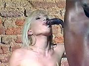 Hot ts gets cum in mouth