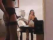 Sexy tranny in crazy orgy