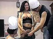 Tranny arranges sex party