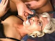 Breath taking sex with old shemale