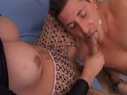 Guy gets cum from beautiful shemale