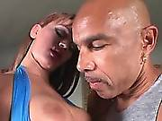 Tranny fucks man in mouth