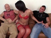 Hot tranny seduces guys after dance