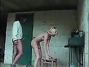 Guy spoils blonde shemale