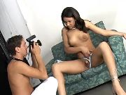 Pretty shemale seduces photographer