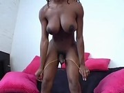 Beautiful black shemale sexy posing